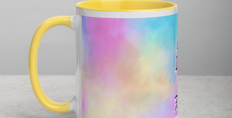 Cup with colored inside