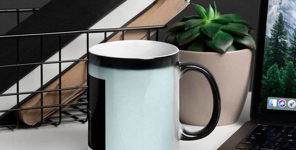 Shiny magic cup with our logo