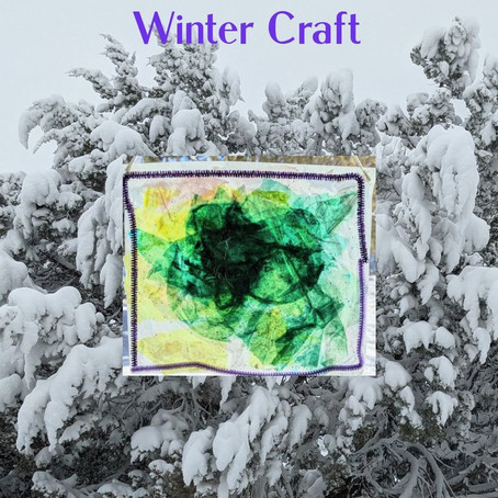 Stained Glass Indoor Winter Craft