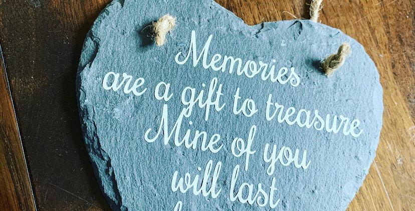 Special Memory Slate Heart