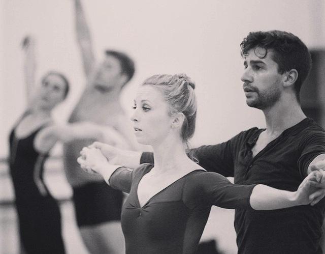 Rehearsal with Barak Ballet