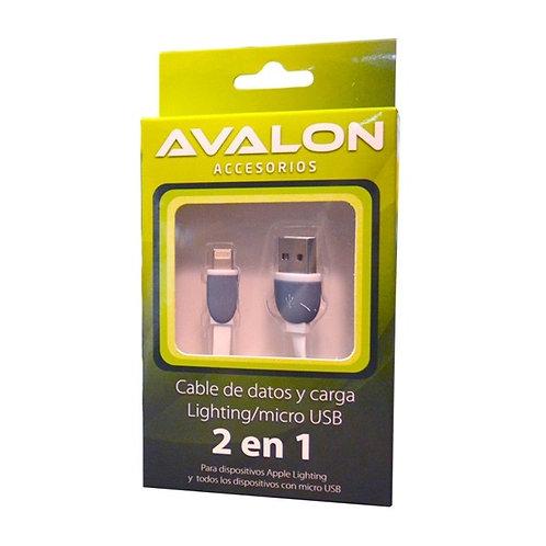 Cable 2 en 1 Lighting / micro USB