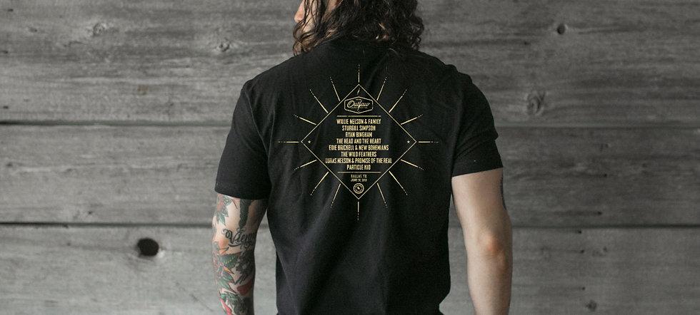 Outlaw music festival t-shirt - backer.j