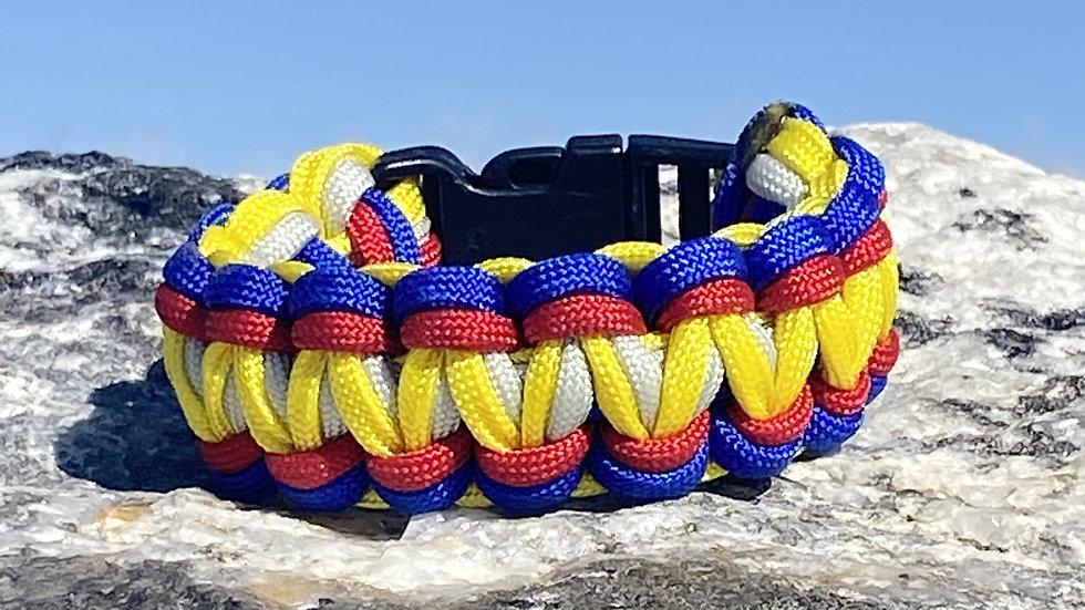 Colorado Flag King Cobra Survival Bracelets