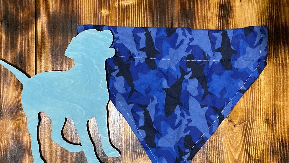 Blue Shark Camo Collar Cape