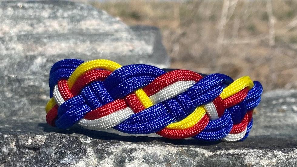 Colorado Flag Weave Survival Bracelets