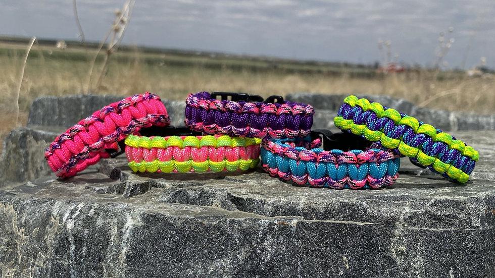 Neon Survival Bracelets