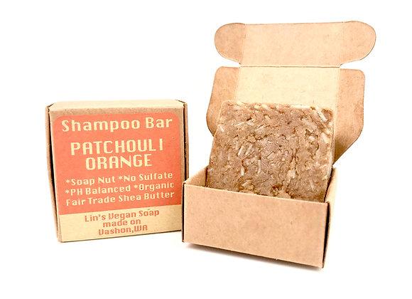 Soap Nut Shampoo Bar - Patchouli Orange