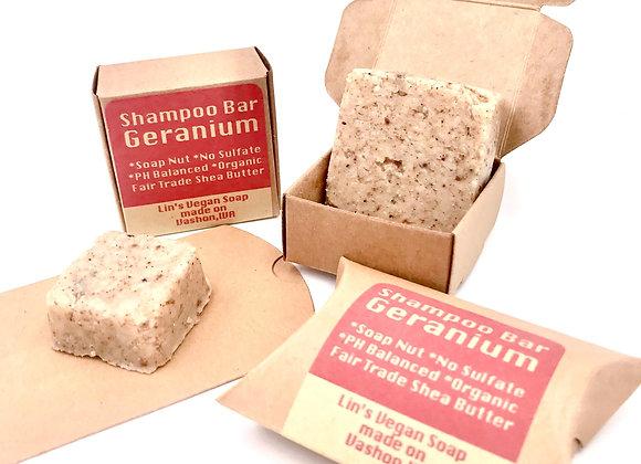 Soap Nut Shampoo Bar - Geranium