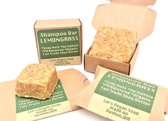 Soap Nut Shampoo Bar - Lemongrass
