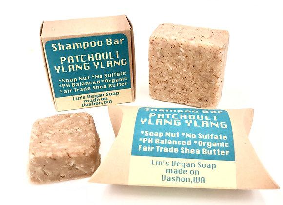 Soap Nut Shampoo Bar - Patchouli Ylang Ylang