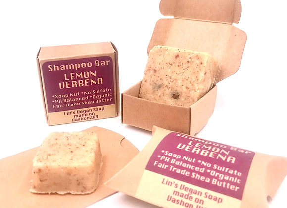 Lemon Verbena Soap Nut Shampoo Bar