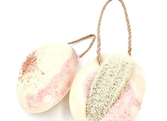 Loofah Soap on A Rope - Cedarwood Eucalyptus