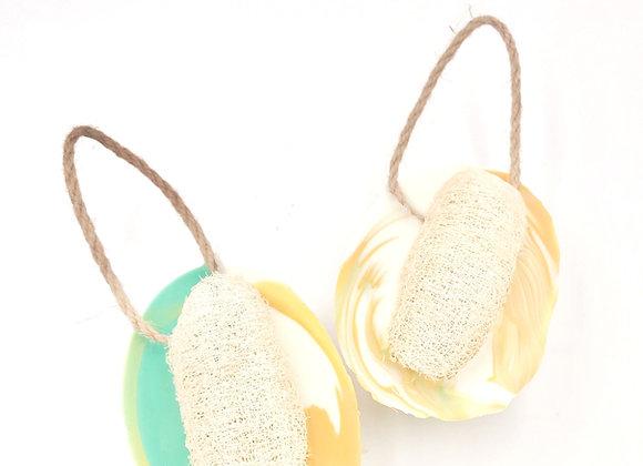 Lemongrass Soap w/Loofah on A Rope