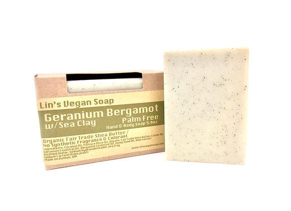 Bergamot Geranium w/Sea Clay Palm Free Soap