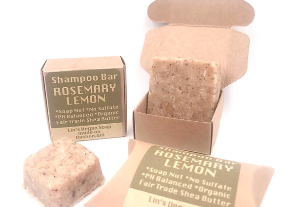 Soap Nut Shampoo Bar - Rosemary Lemon
