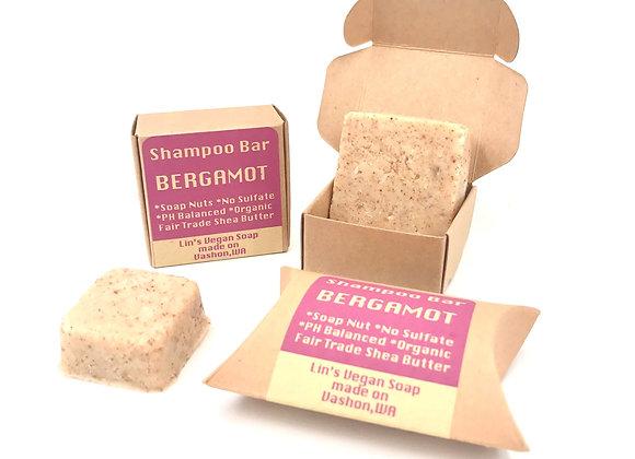Soap Nut Shampoo Bar - Bergamot