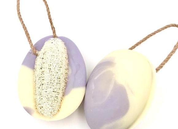 Lavender Lemon Soap on A Rope w/ Loofah