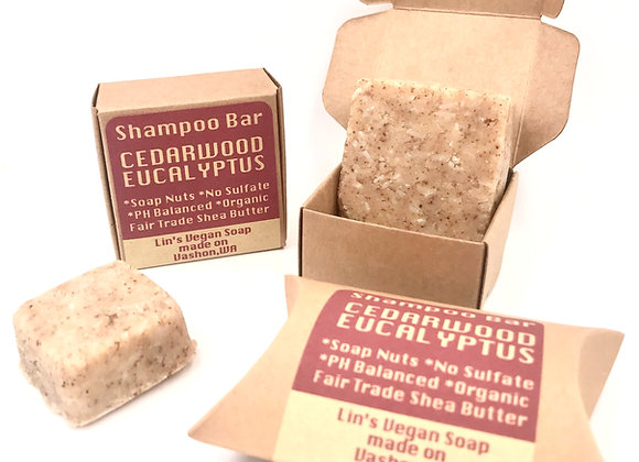Soap Nut Shampoo Bar - Cedarwood Eucalyptus