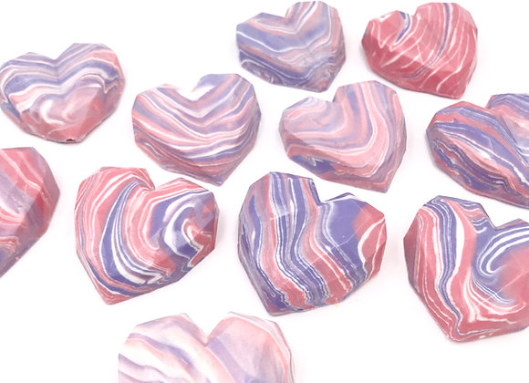 Geranium Lavender Crystal Heart