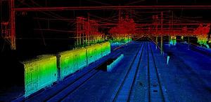LiDAR image of a railway yard