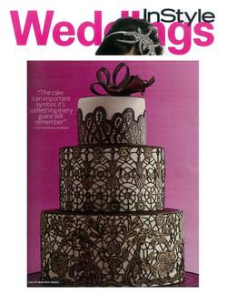 Instyle wedding cake