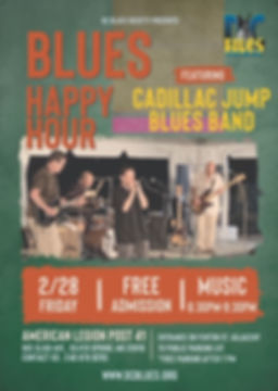 Blues Happy Hour Cadillac Jump Blues Band
