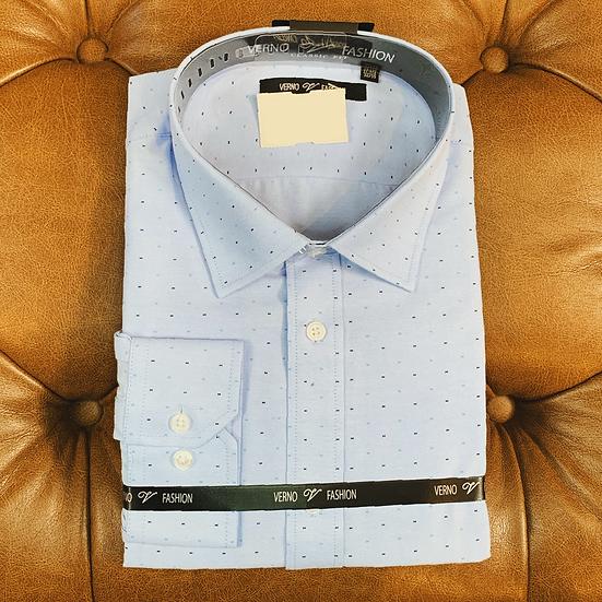 Blue Navy Dot Dress Shirt