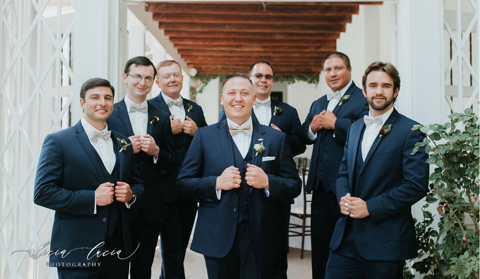 Wedding Suit Package Navy Suits left sig