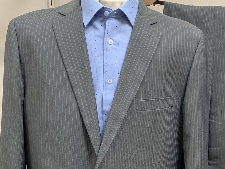 Grey Thin Pinstripe Suit - Vincenzi