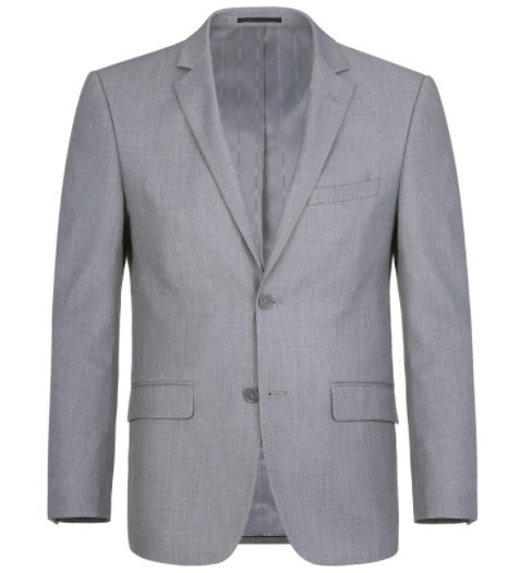 Classic Fit Micro-Tech Grey Suit