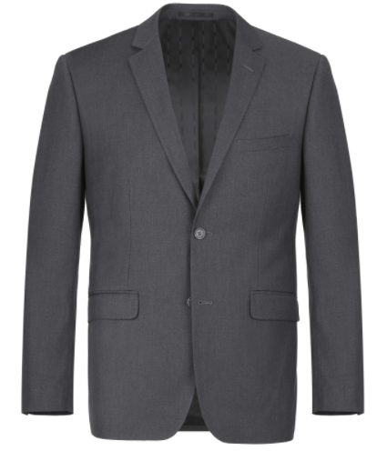 Slim Fit Wool Charcoal Suit