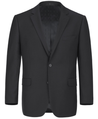Slim Fit Wool Black Suit