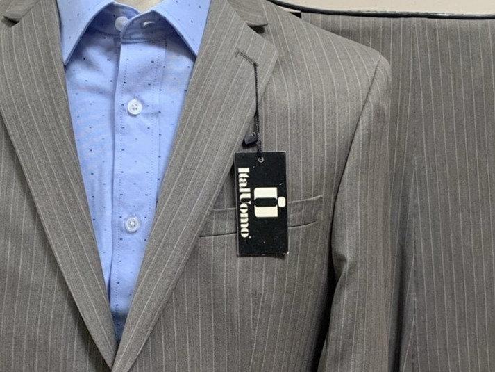 Grey Pinstripe Suit - ItalUomo