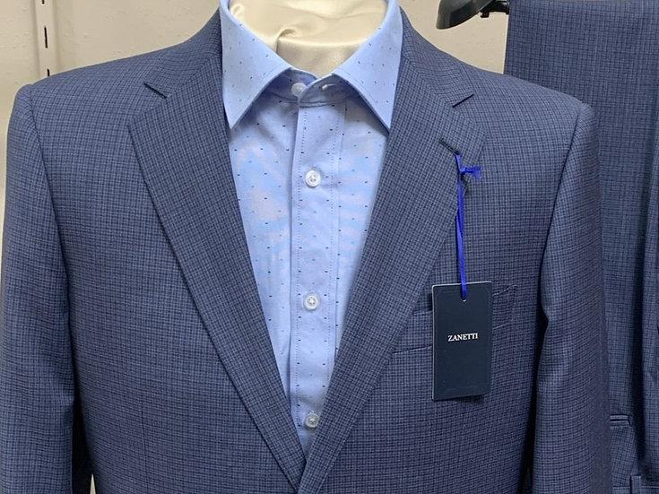 Blue Small Check Suit - Zanetti