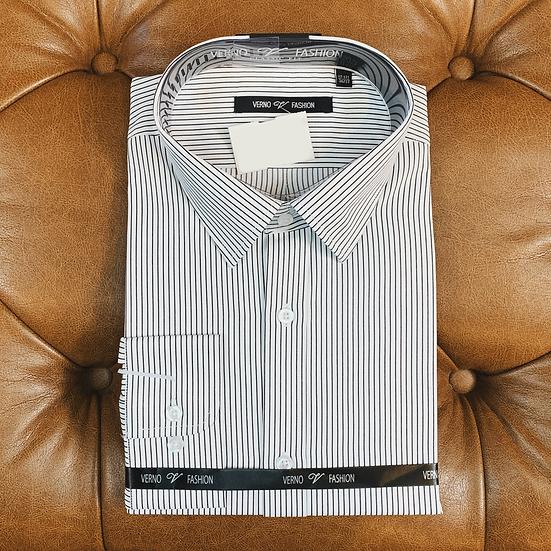 Black Pin Stripe Dress Shirt