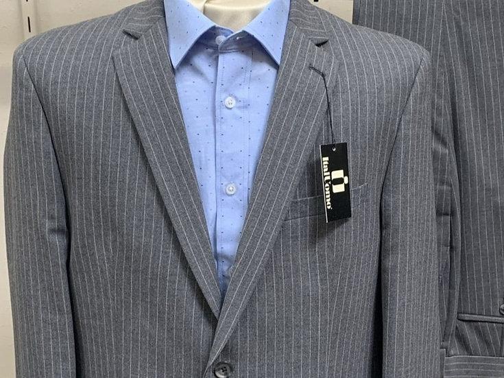 Mid Grey Pinstripe Suit - ItalUomo
