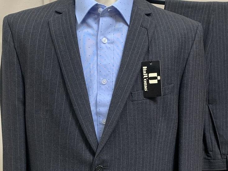 Charcoal Pinstripe Suit - ItalUomo
