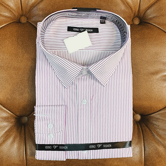 Purple Pin Stripe Dress Shirt