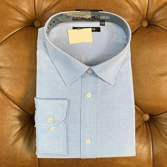Blue White Dot Dress Shirt
