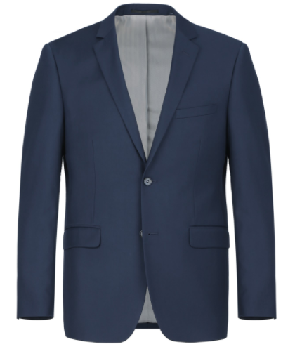 Classic Fit Micro-Tech Blue Suit