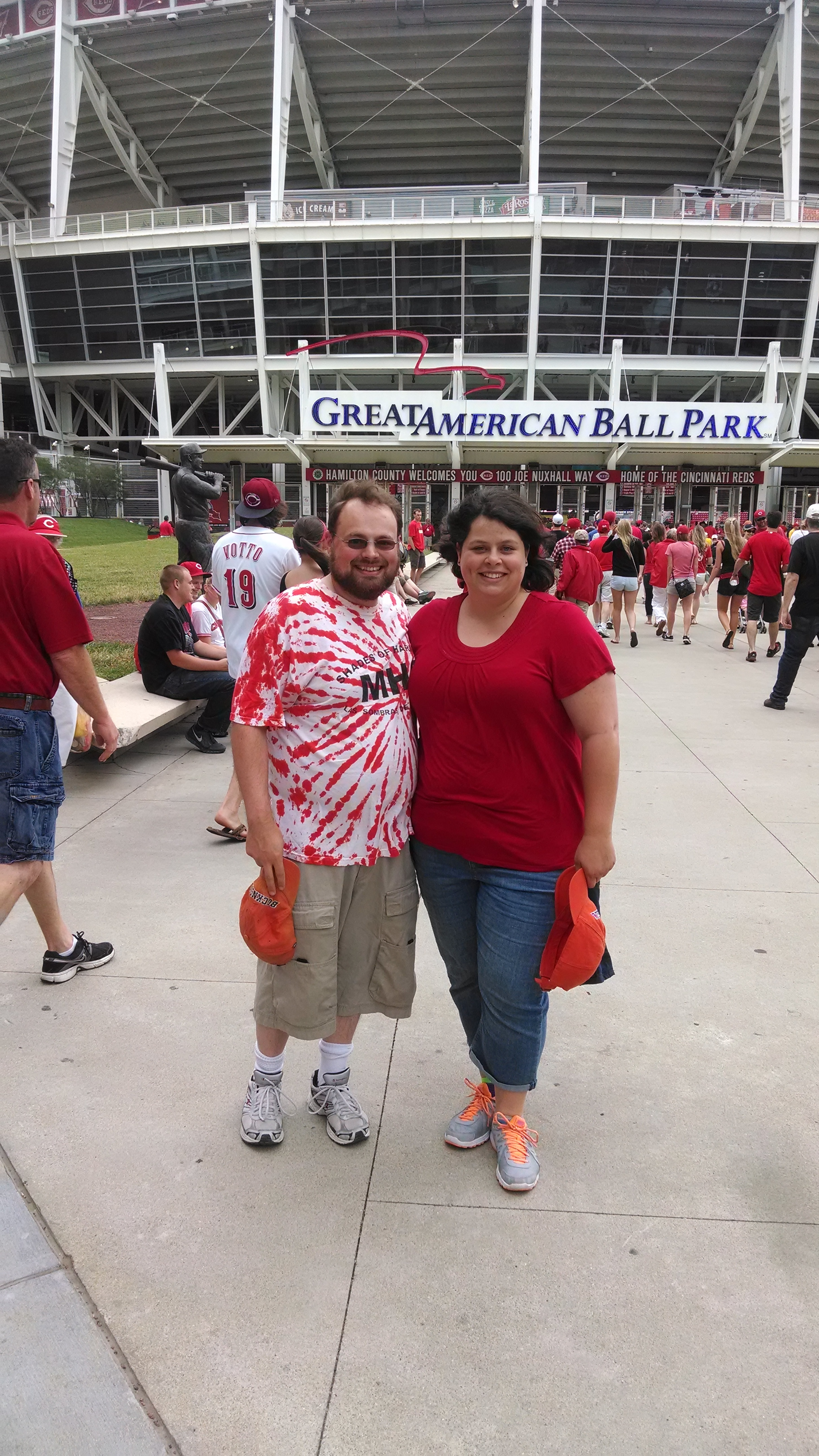 My first Reds game!