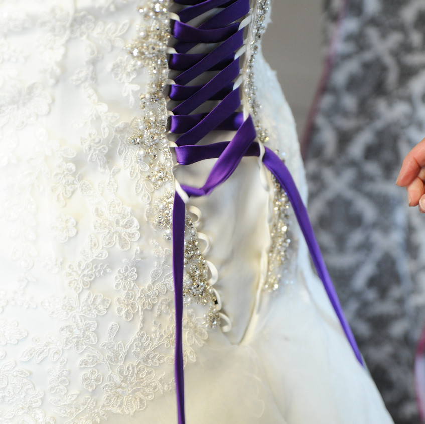 Finishing the lace