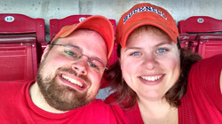 Selfie at the Reds!