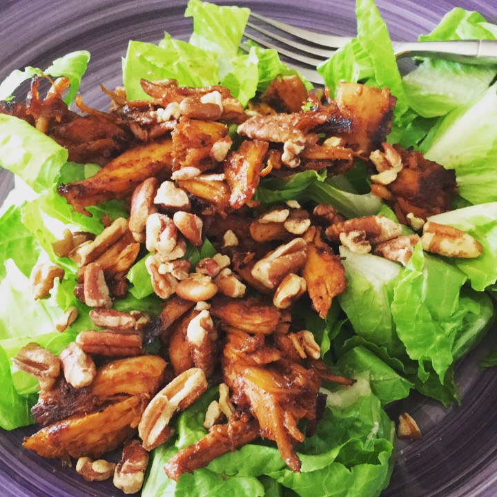 Barbecue Chicken Salad with Walnuts