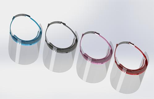 Reusable Face Shields, 1, 4, 5, 25 packs