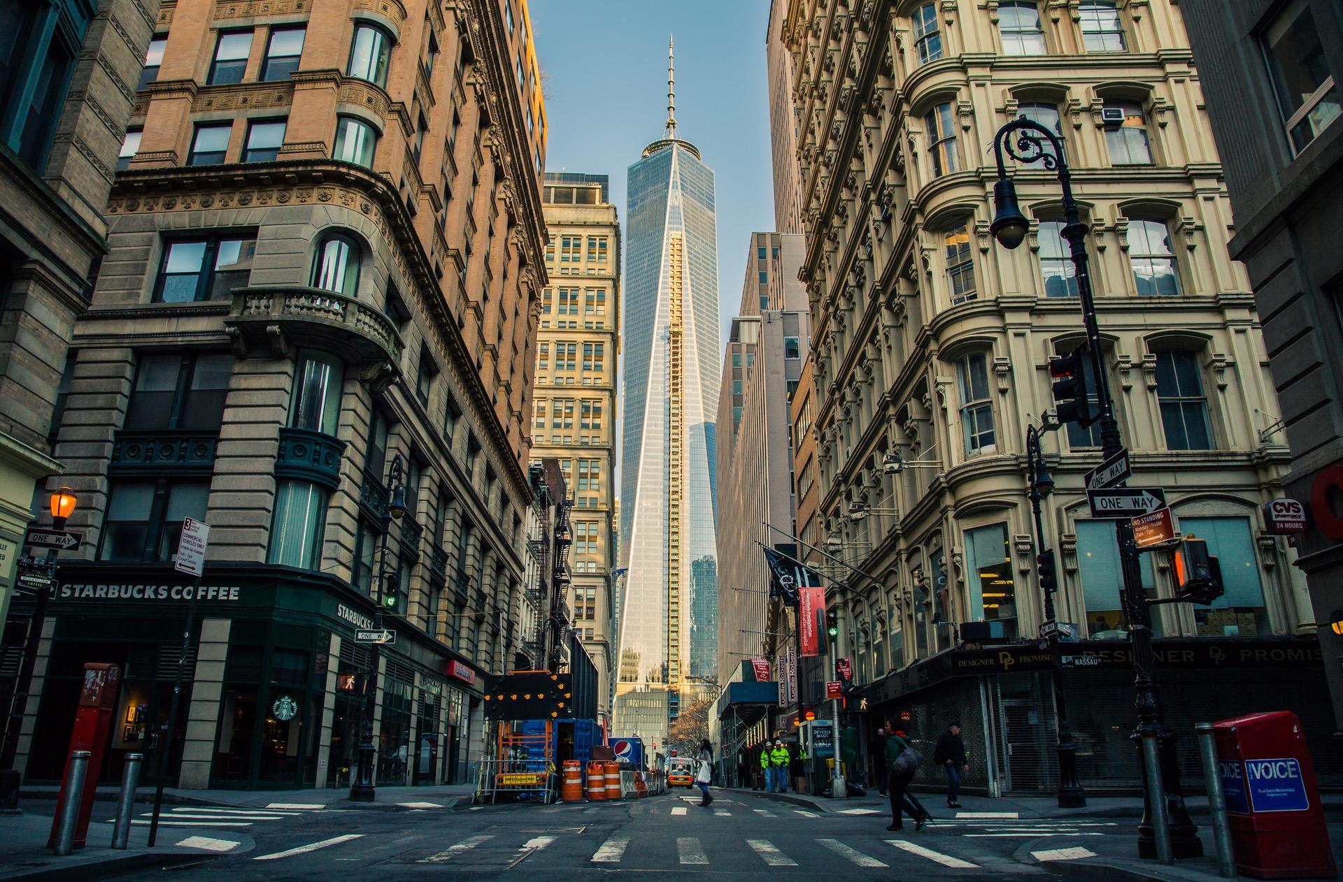 city-road-street-buildings