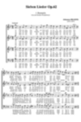 Sheet music for choir (Music engraving)