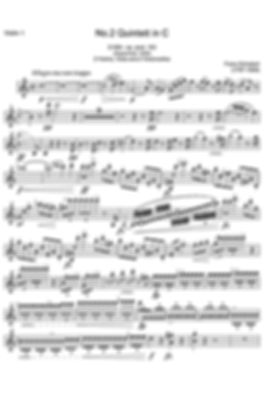 Sheet music for violin - extract part (Music engraving)
