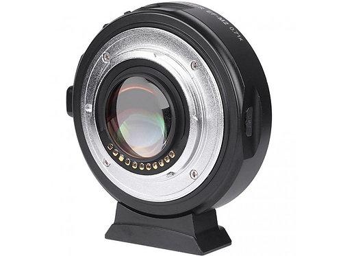Viltrox speedbooster 0.71x Canon EF mount na kamery s micro 3/4
